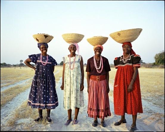 Eudofano Women with Baskets of Marula Kernels #TheBodyShop