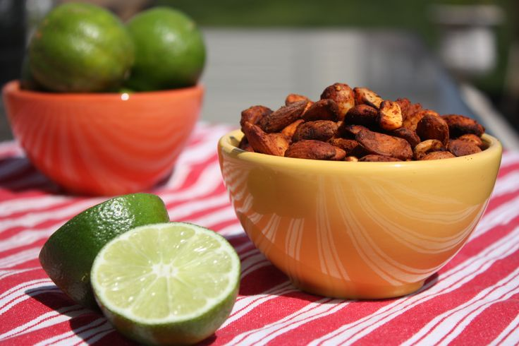 chili lime roasted nuts:: Can't wait to make these!!: Chilis, Chili Lime Roasted, Chili Lime Almonds, A Recipes Appetizers Snacks, Limes, Roasted Almonds, Lime Nuts, Snack Food
