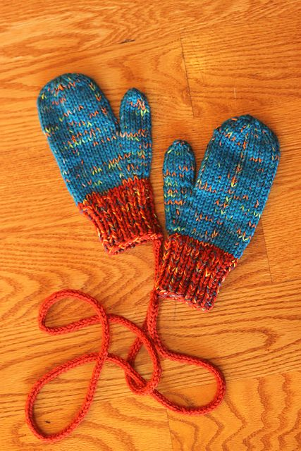 "Bean4680's knit toddler mittens - ""classic mittens"" pattern on Ravelry with some of my own modifications. (K Vlcek)"