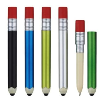 iPencil looks like a pencil but is actually a stylus, pen and working eraser all in one!  A great giveaway item for education.  Pricing good through 5/4/14. 90 day delivery time. $0.48 c | 20,000 min. 1 color imprint, 1 location. FOB 37343