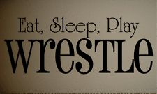Wall Decal Eat Sleep Wrestle Kids Quote Art