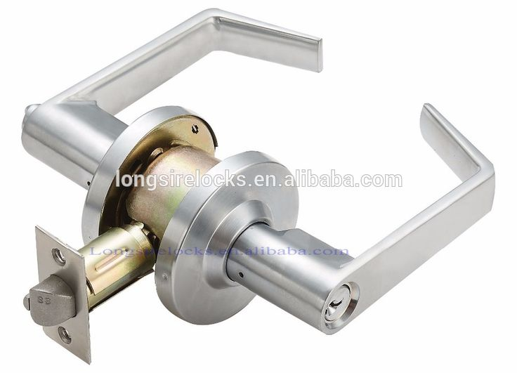 Commercial Grade 2 tubluar door handle with lock