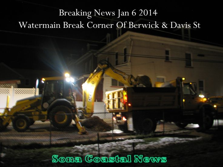 Water Main Breaks In South-side Easton Pa.On January 6 2014 at 6:30 pm EDT. A water main erupted on Davis Street by the corner of W. Berwick Street ( 300 Block). 911 was called and crew showed up about an hour later. Before the crews showed up the water was flowing heavily down the street and up heaving the road. Crews on the scene UGI, The Water Department and Road Department, All working together  on a night of frigid temperatures and some of the coldest weather this area has seen in…