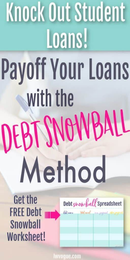 Knock Out Student Loan Debt with this Free Debt Snowball Spreadsheet