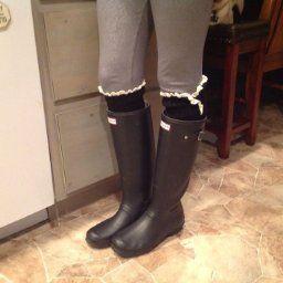 Amazon.com: Tirain Women Knitted Flat Button Down Crochet Leg Warmers with Lace Trim FBA(Black): Clothing