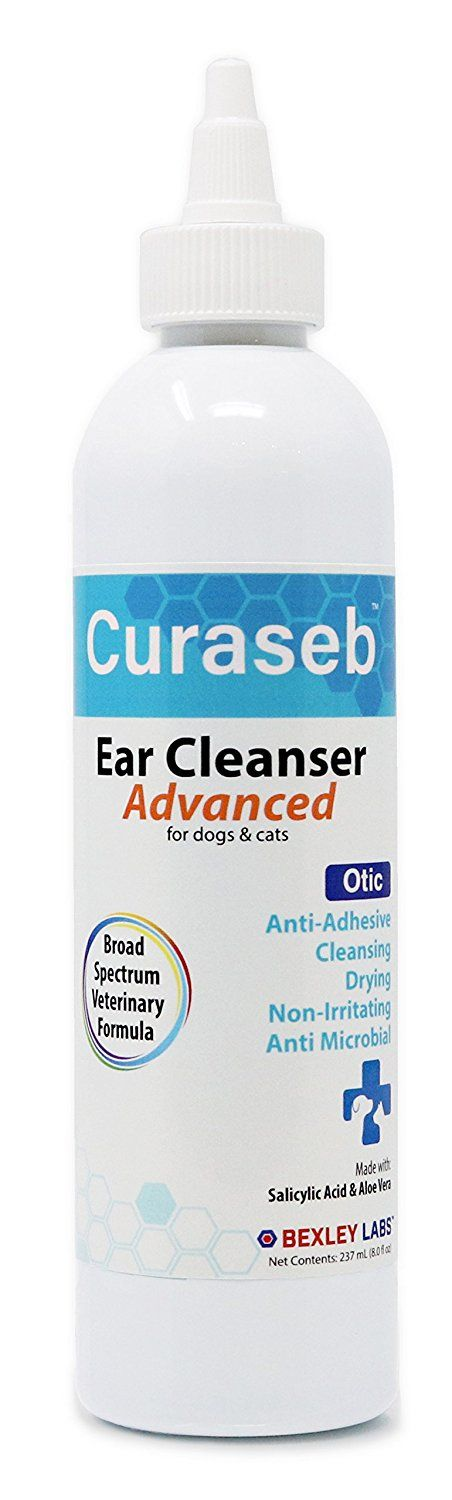 Curaseb | Otic Advanced Cat and Dog Ear Cleaner – Cleans, Dries and Eliminates Odor - Effective for Otitis Externa and Prevents Ear Infections, No-Sting Broad Spectrum Formula, -1 Vet Dog Ear Wash, 8 oz -- You can find more details by visiting the image link. (This is an affiliate link and I receive a commission for the sales)