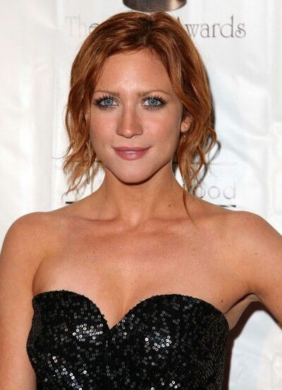 Brittany Snow looks amazing with red hair!