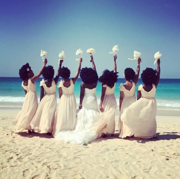 Black Bridal Party With Beautiful Voluminous Afros Goes Viral - Black Hair Information