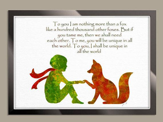 Le Petit Prince Fox Quote The little Prince Fox little Prince