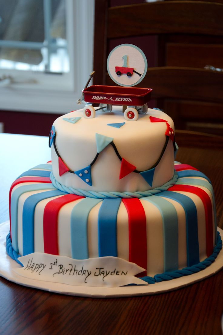 Radio Flyer Birthday Cake?  I love this!!!