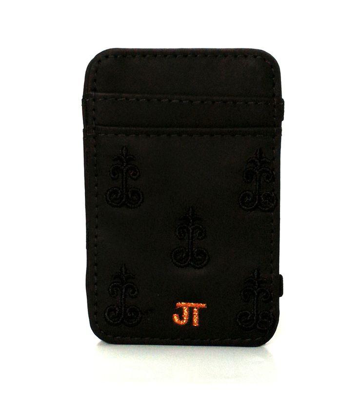 JT Magic Wallet Vintage 2 Color: Black and Cobre #couro #bordado #fashion #accessories #moda #style #design #acessorios #leather #joicetanabe #carteira #carteiramagica #courolegitimo #wallet