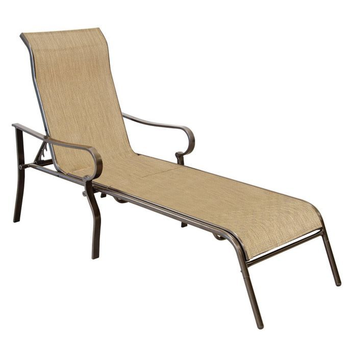 Marvelous Never Rust Aluminum Chaise Lounge Bed Bath Beyond Machost Co Dining Chair Design Ideas Machostcouk