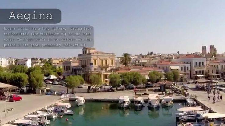 AEGINA - Αίγινα - Greece (aerial video)
