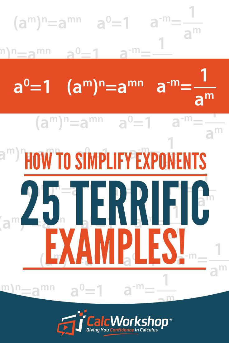 Simplifying Exponents - GREAT video lesson on simplifying expressions with exponents.  With 25 examples, you'll have everything you need to score well in your next quiz or test.  Excellent review for new algebra teachers. Perfect for students in high school or middle school math courses. Find out how to use both exponential and expanded forms when dealing with these problems. #homeschool #math