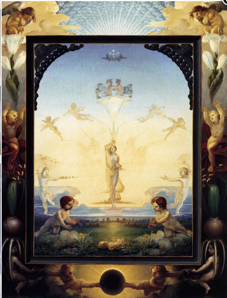 Philipp Otto Runge, The Small Morning, 1809-10, Oil on canvas, 109 x 86 cm, Kunsthalle, Hamburg