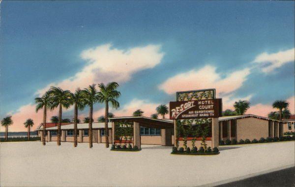 Resort Hotel Court Panama City, FL Postcard