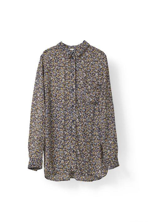 Allen Georgette shirt Meadow Flowers