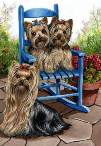 Yorkshire Terrier Patio Sweetheart Garden Flag By Precious Pet Paintings,  Http://www