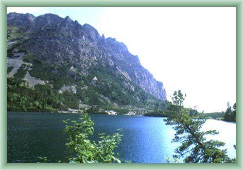 Popradské Mountain Lake