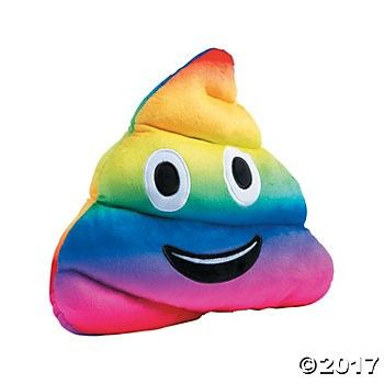 "Plush 13"" Rainbow Emoji Poo Party Supplies Canada - Open A Party"