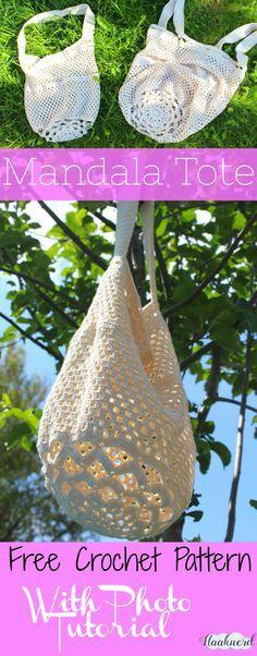 Free crochet pattern with photo tutorial for Mandala Tote | Haaknerd via @haaknerd