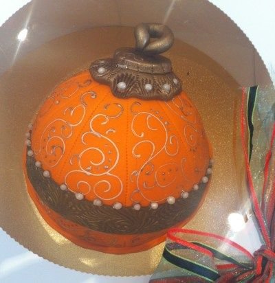 Smaller Christmas Babuble and decorated with our shimmer jel