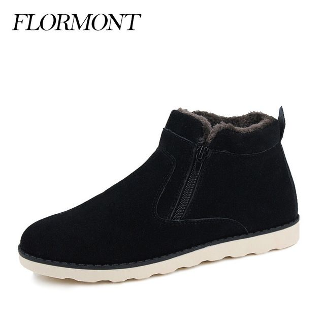 Special price Men's Winter Boots Suede Fur Casual Flats Platform Warm Shoes Men Round Toe Plush Snow Boots Botas Hombre Plus Large Size 37-47 just only $31.96 with free shipping worldwide  #menshoes Plese click on picture to see our special price for you