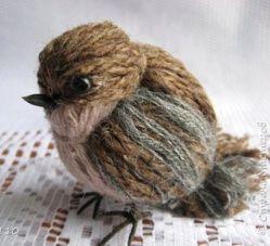 Tutoriel faire un oiseau en laine
