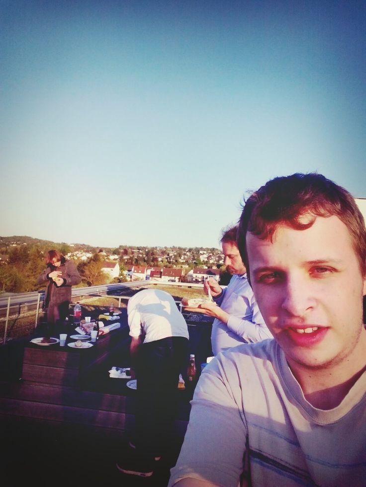 Selfie auf der Dachterrasse
