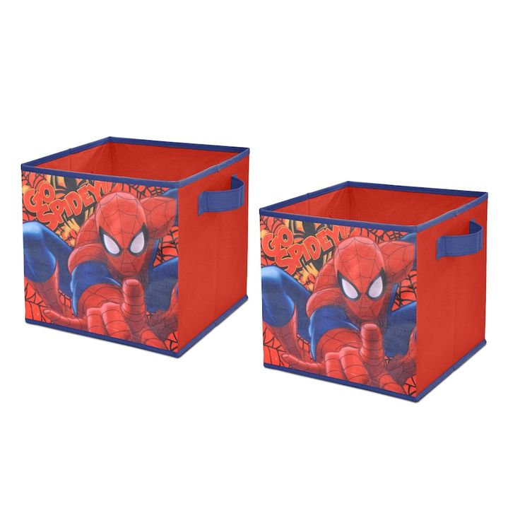 Marvel Spiderman 2-pack Collapsible Storage Cubes, Multicolor