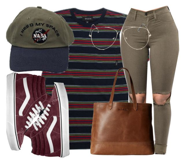 """Untitled #127"" by trillqueen34 ❤ liked on Polyvore featuring Brixton, SOREL and Vans"