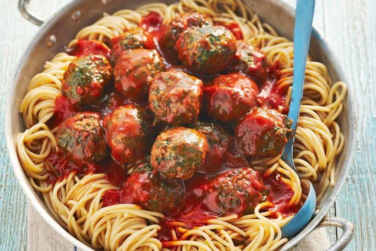 Volkorenspaghetti met spinaziegehakt - Recept - Allerhande