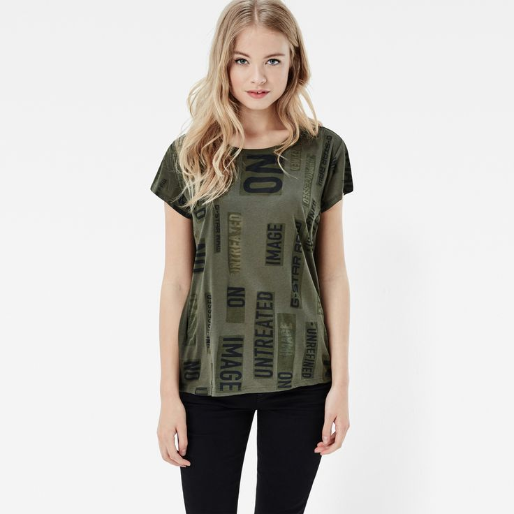 Channeling punk attitude in an off-white motif, this easy, straight tee comes…