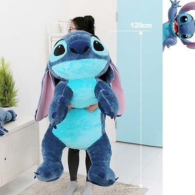"OMG I WANT IT!!!!                              Disney Stitch Doll 47"" Plush Lying Cushion Girl Lilo and Stitch Toy BRAND NEW"