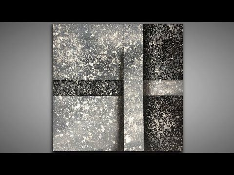 Black and White / Layers and Depth / 136 / Abstract Painting / Disguise / Demonstration – YouTube