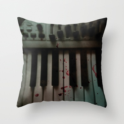 Music.Death.Analog Throw Pillow by WASA3I - $20.00