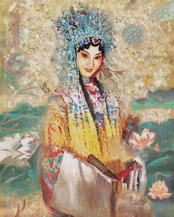 Beijing Opera oil painting