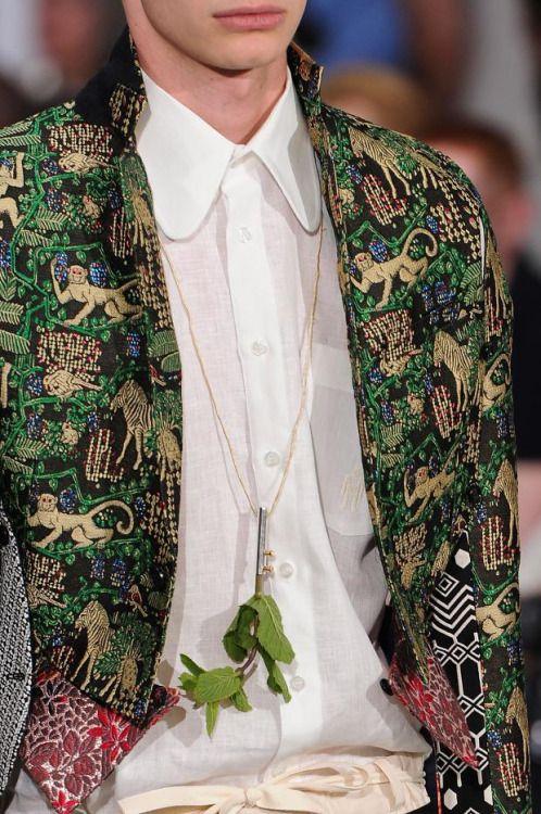 Monkey jacket and plant pendant