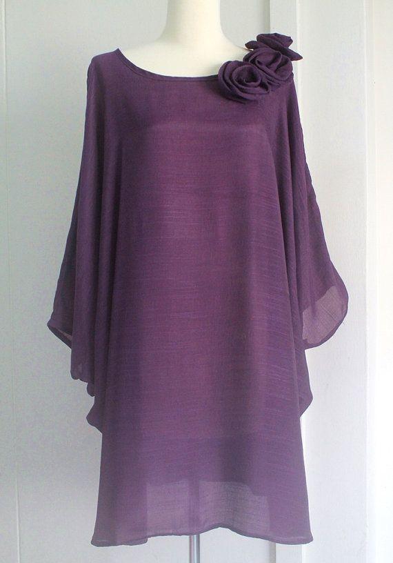 SALE  Purple Plus Size 2X 3X Lightweight Party Top Poncho