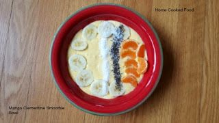 Mango Clementine smoothie bowl