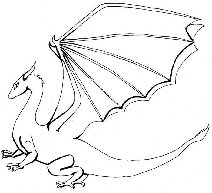 Printable Dltk Kids Dragon To Color K5 Worksheets Animal Templates Dragon Coloring Page Dragon Artwork