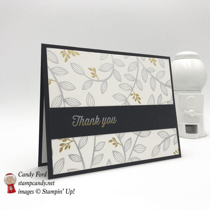 Springtime Foils Specialty DSP thank you card #stampcandy #thankyoucard