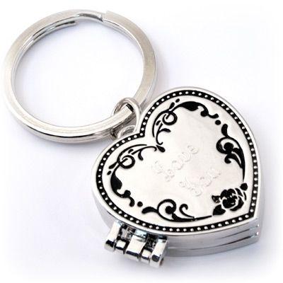Triple Locket Heart Key Chain #love #ValentinesDay