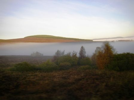 Getting above the early morning mist in the highlands around Tonintoul