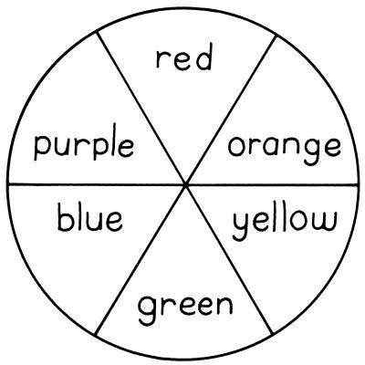 color wheel for art badge have the boys mix the primary colors and then paint - Color Activities For Kids