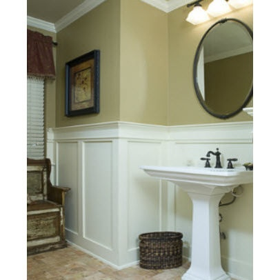 9 best images about wainscoting bathroom on pinterest for Wainscoting bathroom