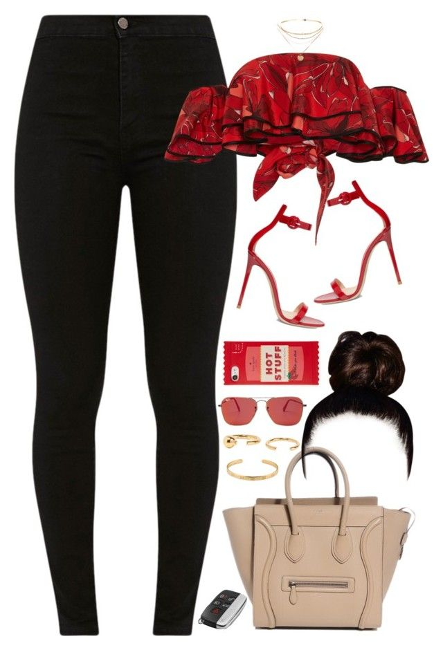 """""""13.07.17"""" by jamilah-rochon ❤ liked on Polyvore featuring Johanna Ortiz, Gianvito Rossi, Gucci, Kate Spade, Ray-Ban and Maria Black"""