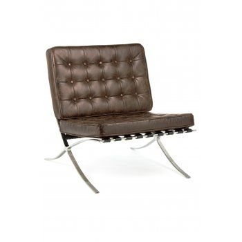 Mies van der Rohe Style Mies van der Rohe chaise Marron