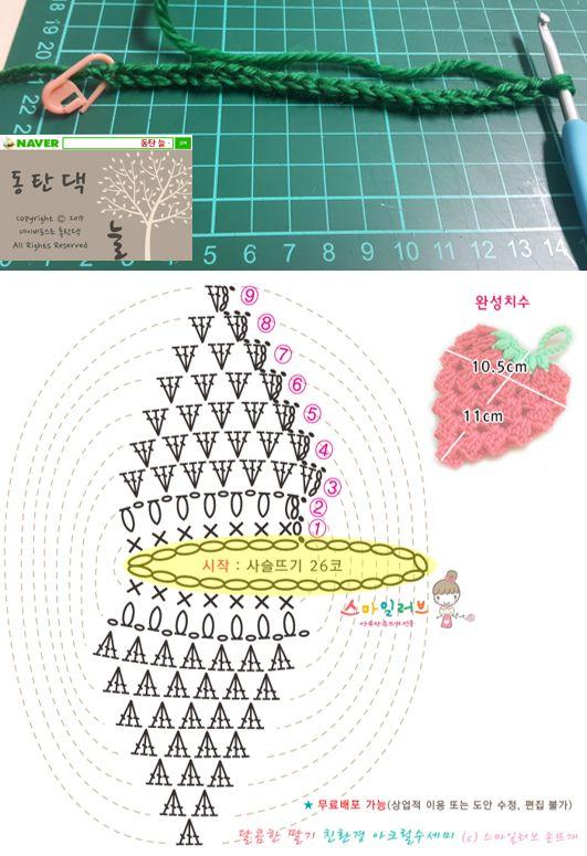 동탄댁 코바늘 No. 25 딸기 수세미 만들기 : 네이버 포스트