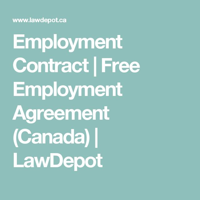 Employment Contract | Free Employment Agreement (Canada) | LawDepot